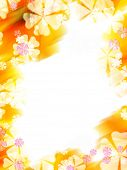 stock photo of yellow flower  - Abstract colorful flower border - JPG