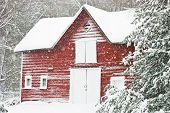 Barn in Blizzard