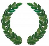 Laurel Wreath Green