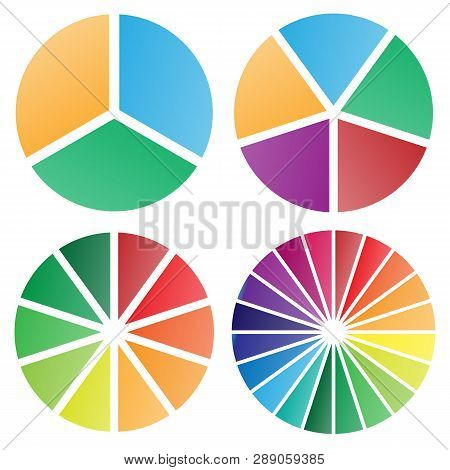 Pie Chart Group Vector Graphic