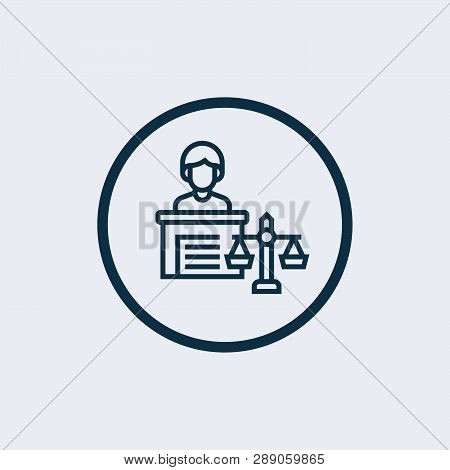 Law Scale Icon Isolated On