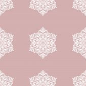 Classic Seamless Vector Pattern. Damask Orient Purple And White Ornament. Classic Vintage Background poster