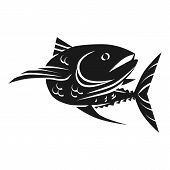 Sea Tuna Fish Icon. Simple Illustration Of Sea Tuna Fish Icon For Web Design Isolated On White Backg poster