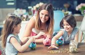 Happy Family Mom Daughter Save Money Piggy Bank Future Investment Savings poster