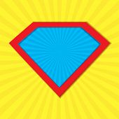 Superhero Badge Logo. Super Hero Shield Man Icon Symbol Of Power. Vector Illustration poster