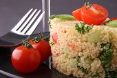 tabbouleh, coucous and vegetable