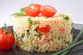 picture of tabouleh  - couscous and vegetable - JPG