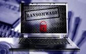 Ransomware And Lock On Pc With Tech Images Background poster