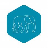 Elephant Icon. Outline Illustration Of Elephant Vector Icon For Web poster