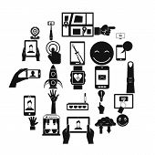 Touch Screen Icons Set. Simple Set Of 25 Touch Screen Icons For Web Isolated On White Background poster