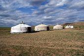 stock photo of yurt  - Traditional mongolian house  - JPG