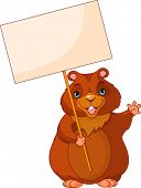 picture of groundhog day  - Funny Woodchuck holding Groundhog Day Sign - JPG