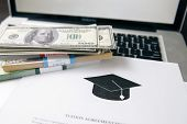 Tuition Fee Or Student Loan With Calculator. Education Price , Savings Fund College, And Expenses Co poster