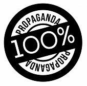 100 Percent Propaganda Stamp On White Background. Sign, Label, Sticker poster