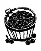 Bushel Of Apples - Retro Clipart Illustration