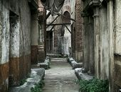 Old abandoned houses in ancient rome