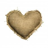 picture of grommets  - Valentine linen Sackcloth heart - JPG