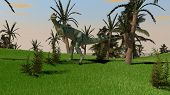 picture of dilophosaurus  - dilophosaurus dinosaurus in jungle - JPG