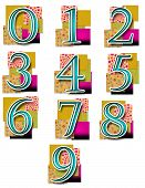 Numbers in Colourful Background - Simple