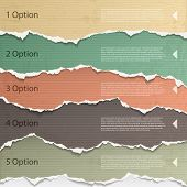 stock photo of cut torn paper  - Design elements  - JPG