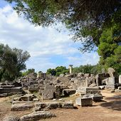 picture of olympic-games  - Ancient ruins in Olympia - JPG
