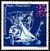 Postage Stamp Gdr 1973 Midsummer Marriage, Performance