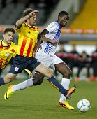 BARCELONA - DEC, 30: Cape Verdean player Jorge Djaniny during the friendly match between Catalonia a
