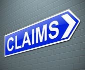 stock photo of reimbursement  - Illustration depicting a sign with a claims concept - JPG