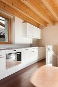 picture of chalet interior  - comfortable empty loft - JPG