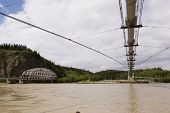 picture of nonrenewable  - Alyeska pipeline and Richardson Hwy bridges near Delta - JPG