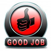 pic of job well done  - great job good work results in successful assignment - JPG
