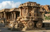 Picture of stone chariot. Hampi.