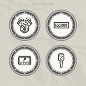 stock photo of car symbol  - Car parts and accessories from left to right - 