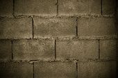 picture of cinder block  - close up Cinder Block Wall Background And Texture - JPG