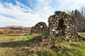 stock photo of bute  - Aros castle ruins Isle of Mull Inner Hebrides of Scotland - JPG