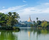 picture of yangon  - Travel Myanmar tourism background  - JPG