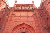picture of mughal  - This Red Fort was the residence of the Mughal emperor of India for nearly 200 years until 1857 - JPG