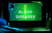 pic of b12  - Notebook with words  blood diseases - JPG