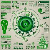 foto of ecosystem  - Environment ecology infographic elements - JPG