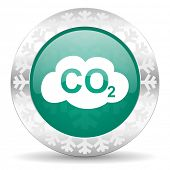 stock photo of carbon-dioxide  - carbon dioxide green icon - JPG