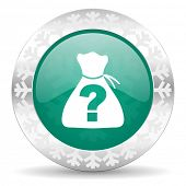 stock photo of riddles  - riddle green icon - JPG