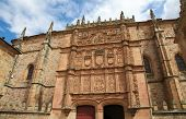 picture of academia  - Plateresque facade of the University building of Salamanca Castile and Leon Spain - JPG