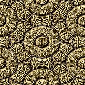 pic of mayan  - Mayan ornaments seamless hires generated texture or background - JPG
