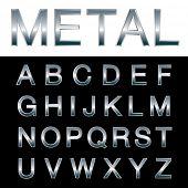 pic of grammar  - vector metal emboss alphabet - JPG