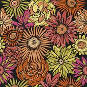 image of gerbera daisy  - Floral seamless pattern - JPG