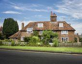 foto of english cottage garden  - English cottage in the village of Appledore Kent UK - JPG