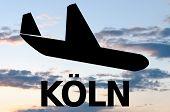 foto of koln  - Airplane icon  - JPG