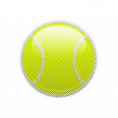 Постер, плакат: Halftone tennis ball