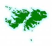 picture of falklands  - Outline blank map of the UK Falkland Islands - JPG