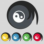 pic of ying yang  - Ying yang icon sign - JPG